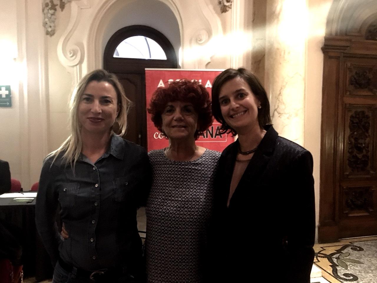Giulia Manica con il Ministro Valeria Fedeli